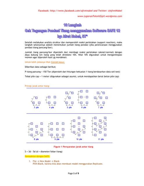 10 langkah cek tegangan pondasi tiang menggunakan software safe 12