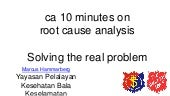 10 minutes on root cause analysis