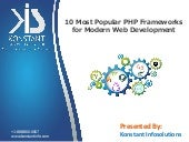 10 Most Popular PHP Frameworks for Modern Web Development