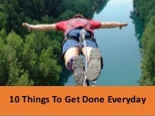 To-Do: 10 Things To Get Done Everyday