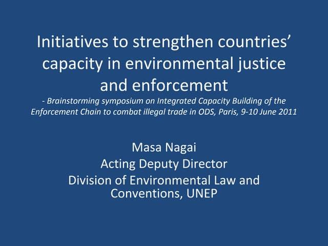 Unep's initiatives enforcement