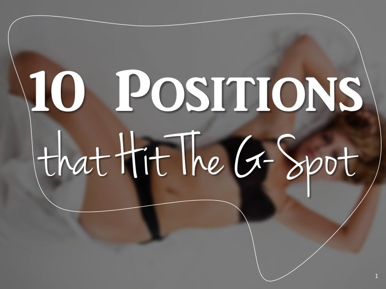 Best sex positions for hitting g spot