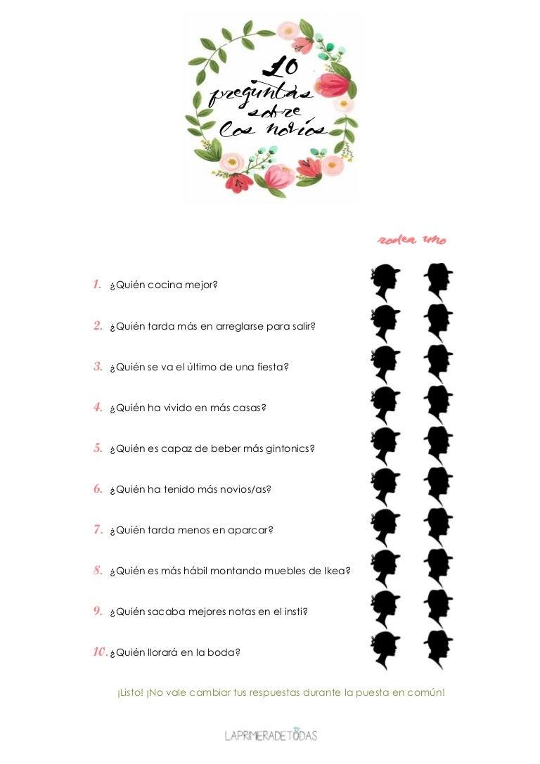 10 Preguntas Sobre Los Novios