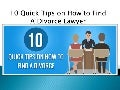 10 quick tips on how to find a fort worth divorce lawyer