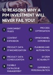10 Reasons Why a PIM Investment Will Never Fail You!