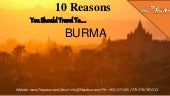 10 reasons you should travel to burma