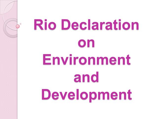 10 rio declaration on environment and development