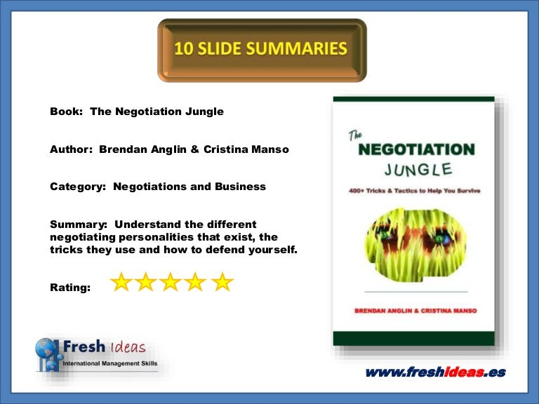 negotiations book