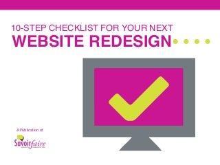 10-Step Website Redesign Checklist