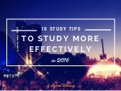 10 Study Tips for Finals