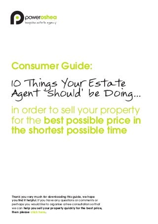 10 things your estate agent 'should' be doing