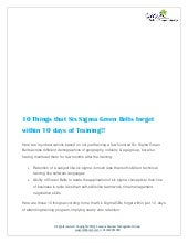 10 things that six sigma green belts forget within 10 days of training