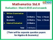 10th Maths Syllabus and Evaluation Scheme