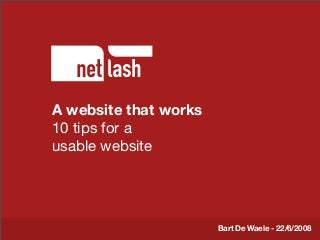 10 tips for a usable website