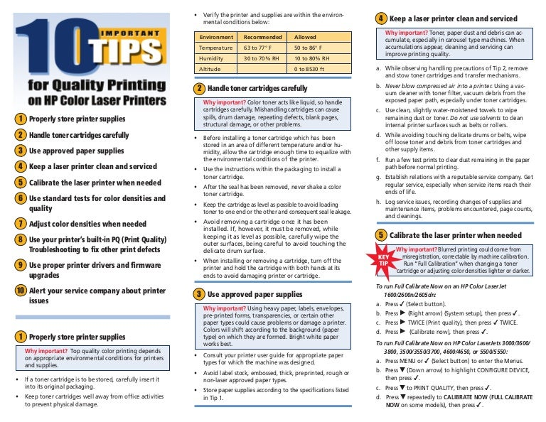 10 tips for quality printing on hp color laser printers