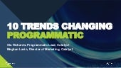 10 Trends Changing Programmatic