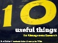 10 useful things for Management Research