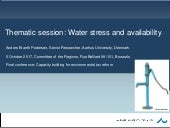 Water stress and availability: Policy issues, relevance of MBIs, key findings