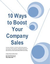 10 ways to boost your company sales