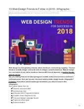 10 Web Design Trends to Follow in 2018 - Infographic