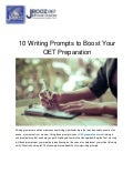10 Writing Prompts to Boost Your OET Preparation