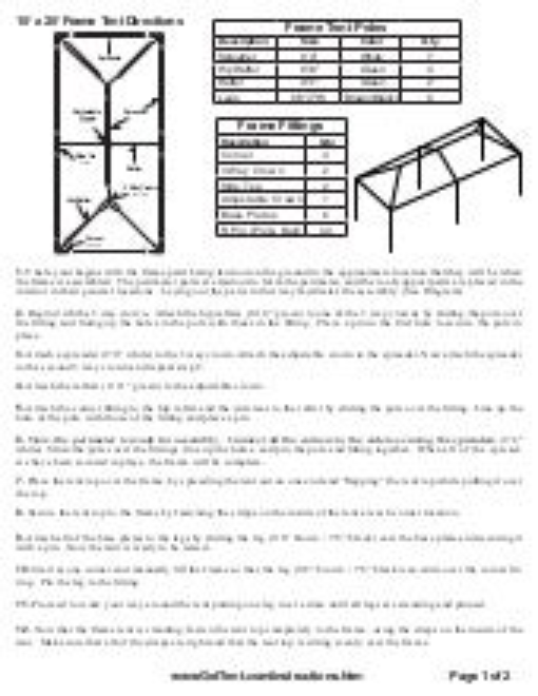 10x30 Canopy Instructions