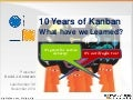 10 years of kanban - what have we learned