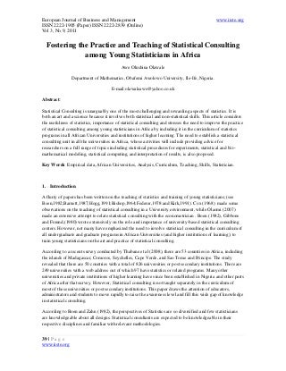 Consultant dissertation research statistical statistician