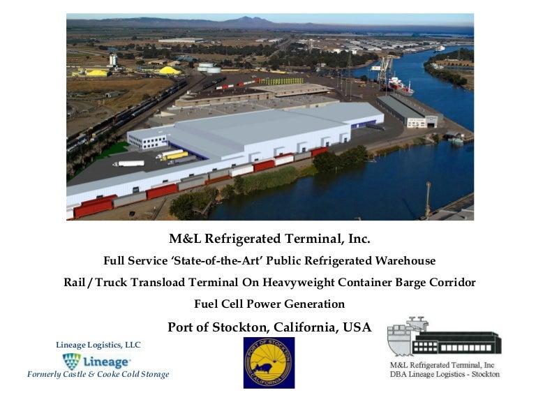 sc 1 st  SlideShare & Mu0026L Refrigerated Rail Terminal Port Stockton