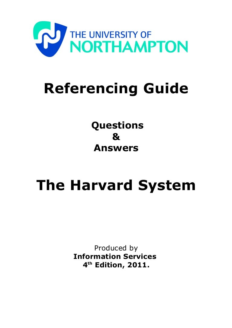 harvard referencing guide th edition