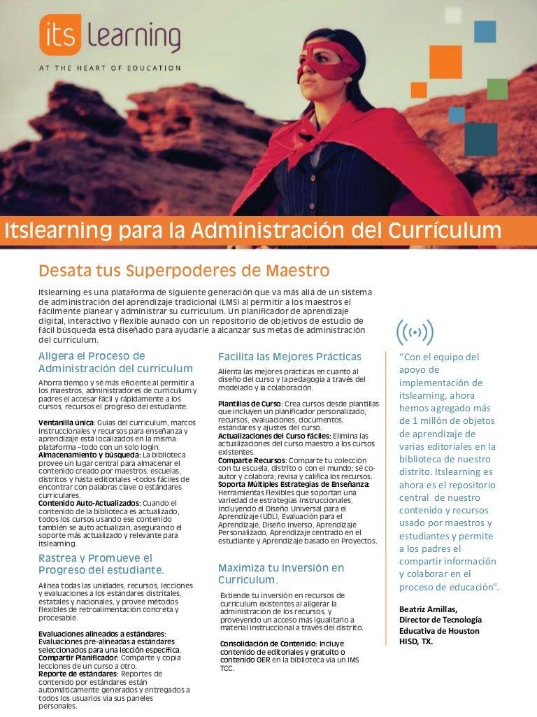 itslearning para la administración del currículum