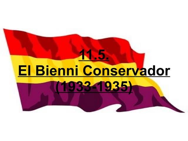 11.5. El Bienni Conservador (1933-1935)