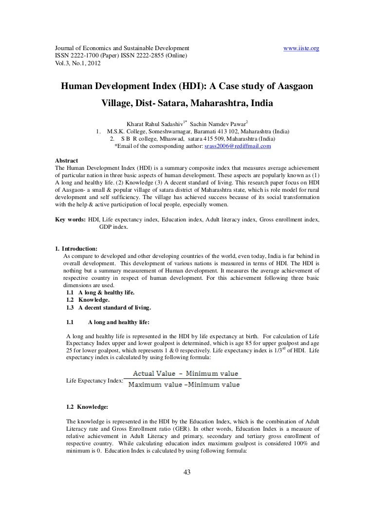11 human development index (hdi) a case study of aasgaon