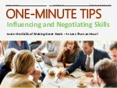One-Minute Tips: Influencing and Negotiating Skills