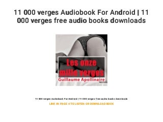 11 000 verges Audiobook For Android - 11 000 verges free audio books downloads