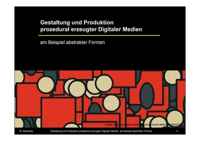 Prozedurale Generierung digitaler Medien am Beispiel abstrakter Formen