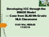 Developing ICC through the Image Model Case