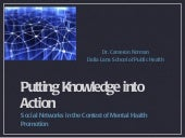 SAMI Mental Health and KT Presentation