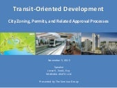TOD City Zoning, Permits, and Related Approval Processes