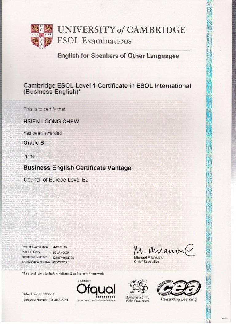 10 cambridge esol certificate cambridge esol certificate 1betcityfo Images