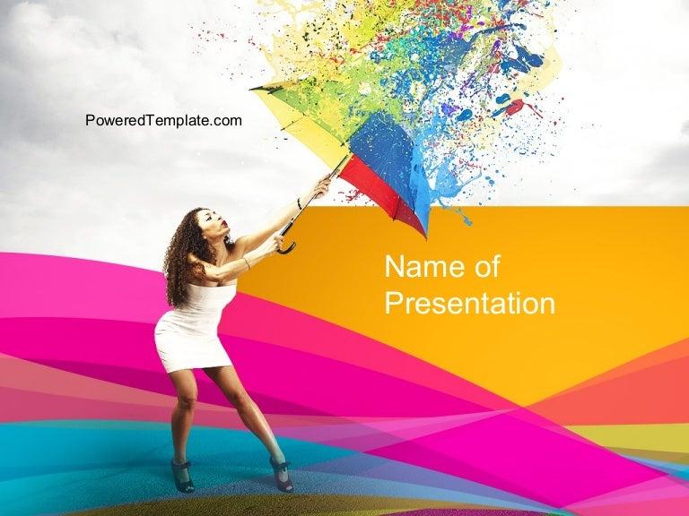 Riot of color powerpoint template toneelgroepblik Choice Image