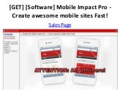 [GET] [Software] Mobile Impact Pro - Create awesome mobile sites Fast!