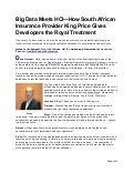Big Data Meets HCI—How South African Insurance Provider King Price Gives Developers the Royal Treatment