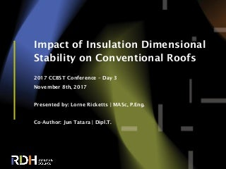 Impact of Heating and Cooling of Expanded Polystyrene and Wool Insulations on Conventional Roof Performance