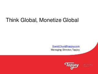 Mobile Game Asia 2015 Bangkok: Think Global Monetize Global