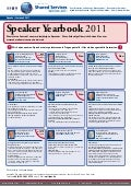 Shared Services Woche: Speaker Yearbook 2011