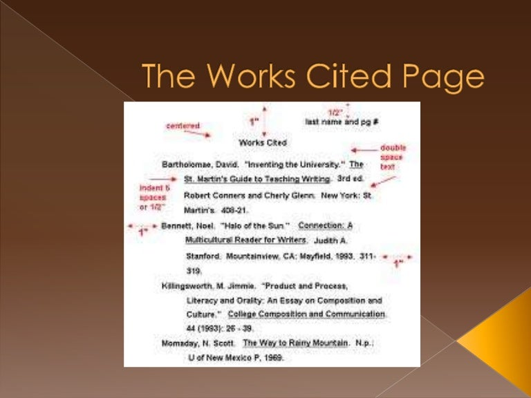 113 works cited page