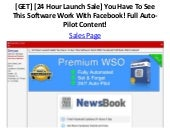 [GET] [24 Hour Launch Sale] You Have To See This Software Work With Facebook! Full Auto-Pilot Content!