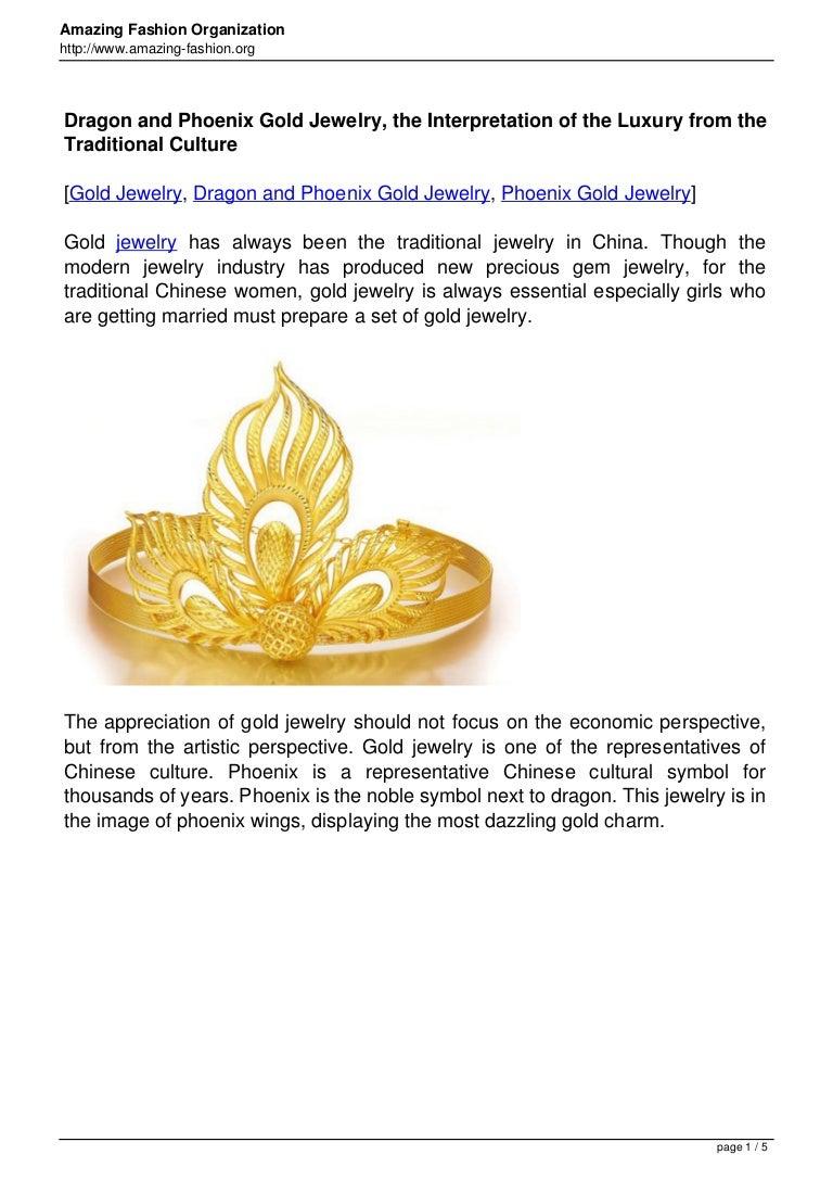 Dragon and phoenix gold jewelry the interpretation of the luxury fro buycottarizona Gallery
