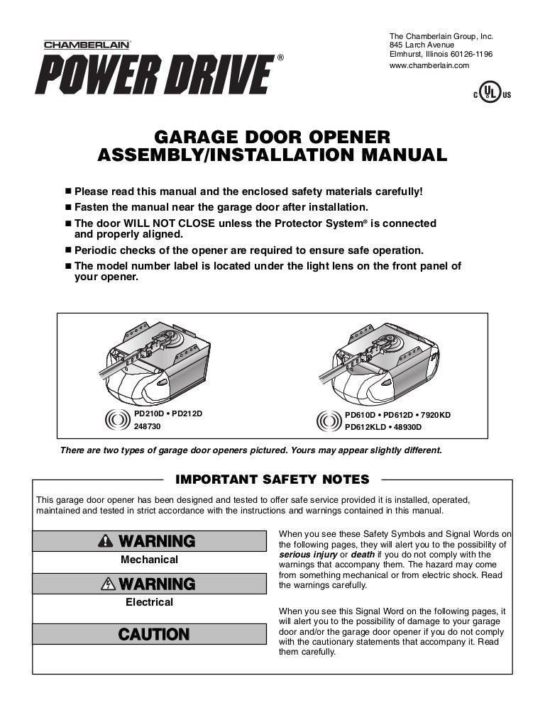 [DIAGRAM_38IS]  Chamberlain Garage Door Opener Manual | Industrial Garage Door Openers Wiring Diagram |  | SlideShare